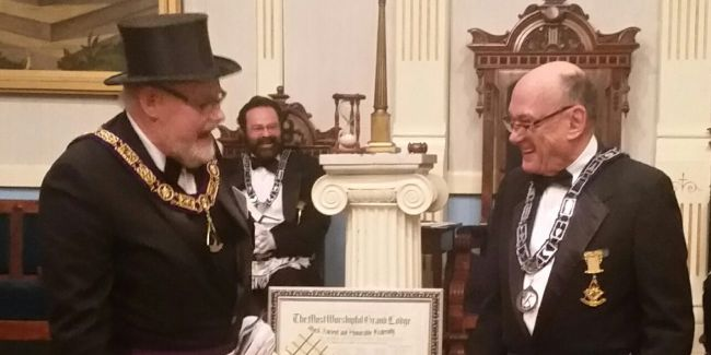 Lynner Herb French honored by the Freemasons