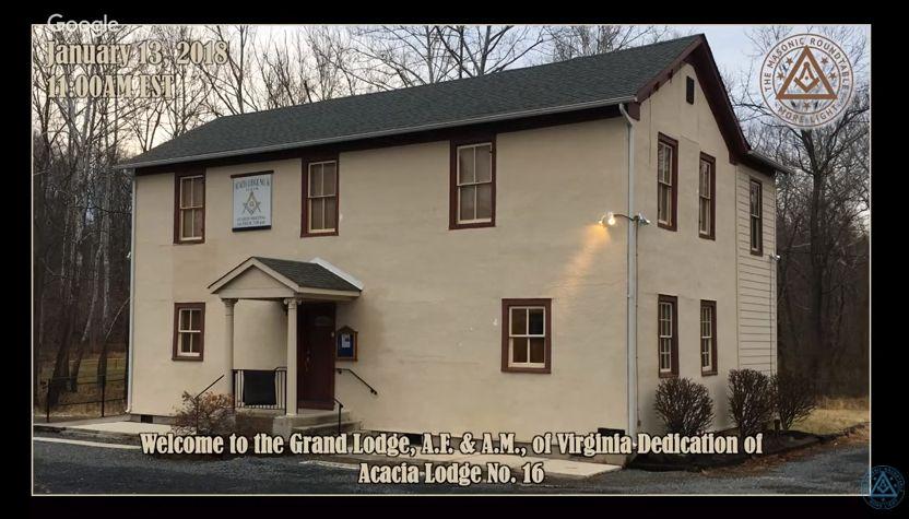 Acacia Lodge No. 16 Building Dedication (live stream)