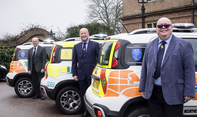New emergency first response cars - donations from Freemasons