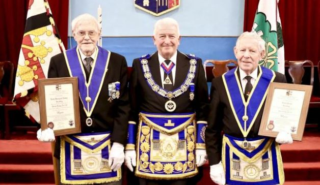 Two Kendal Freemasons celebrate their golden jubilee