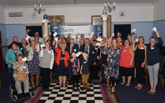 Exmouth charities celebrate share of Freemasons funds