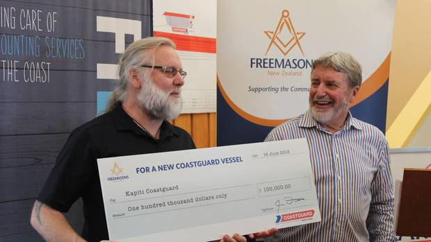 Freemasons $100,000 donation to Coastguard