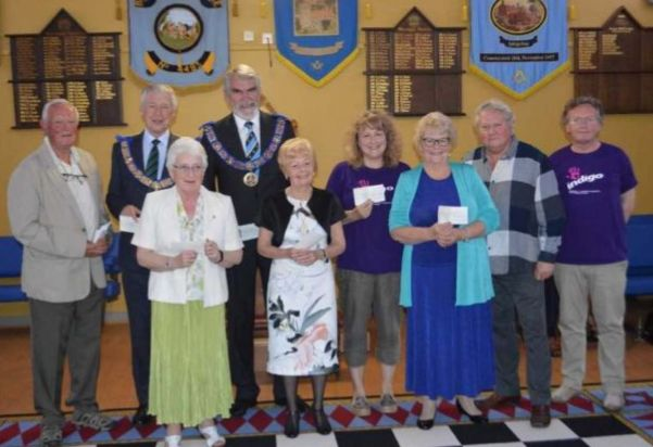 Redditch Freemasons hand out £14 000 to good causes