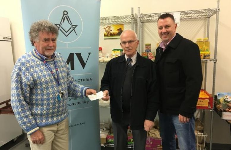 Freemasons give to Ballarat Christmas in July appeal