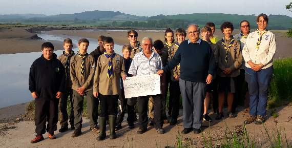 Explorer Scouts grateful for Freemasons donation