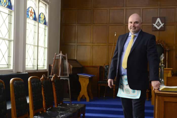 Inside Freemasons' Hall, Arthur Square, Belfast. Pictures