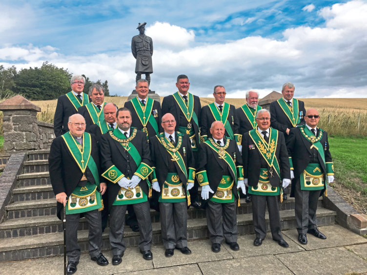 Scotland: Freemasons pay respects at Dundee Black Watch memorial in bid to raise £60k