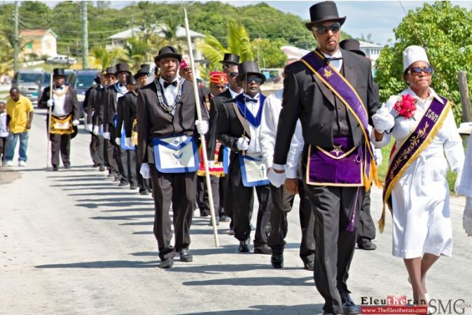 Bahamas: Lodge Chapters parade
