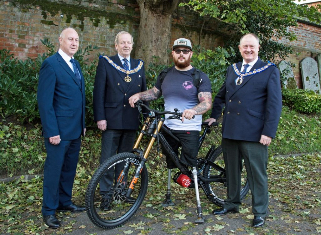 Injured veteran Ash Hall's stolen bike is replaced thanks to Essex Freemasons