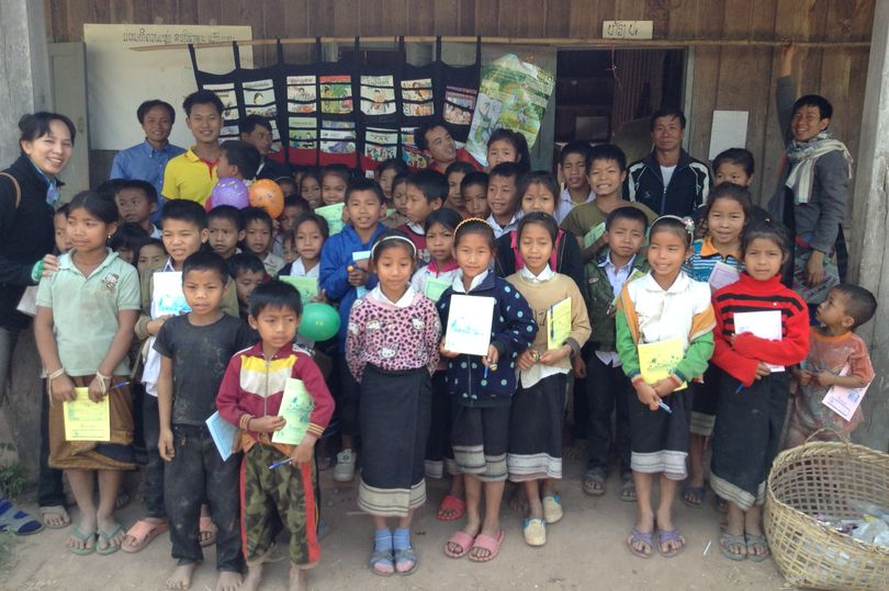 Thousands donated to children in Laos thanks to Blundell's Masonic Lodge