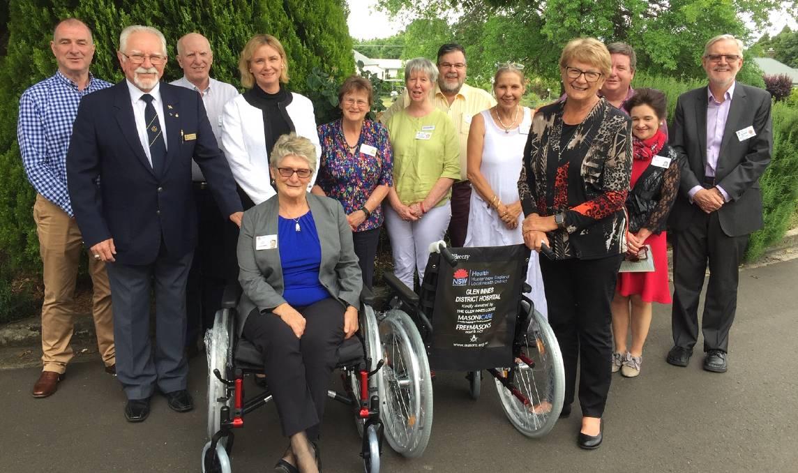Australia - Glen Innes Freemasons purchase chairs for hospitals