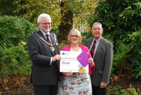 Freemasons donate £60,000 to Cavendish Cancer Care