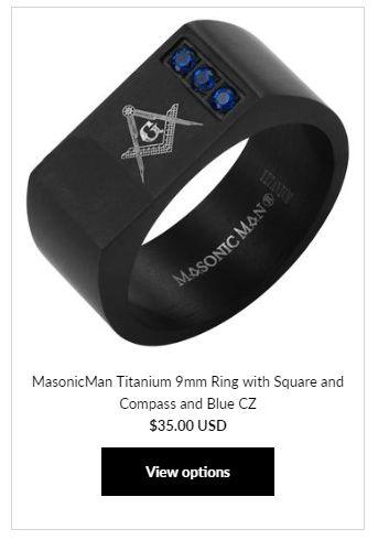 MasonicMan Titanium Ring