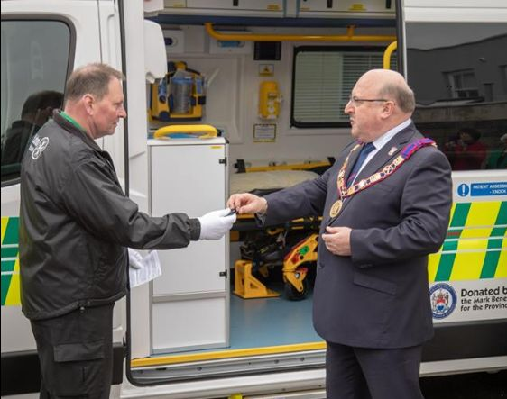Mark Master Masons donate new Ambulance to St John Ambulance Jersey