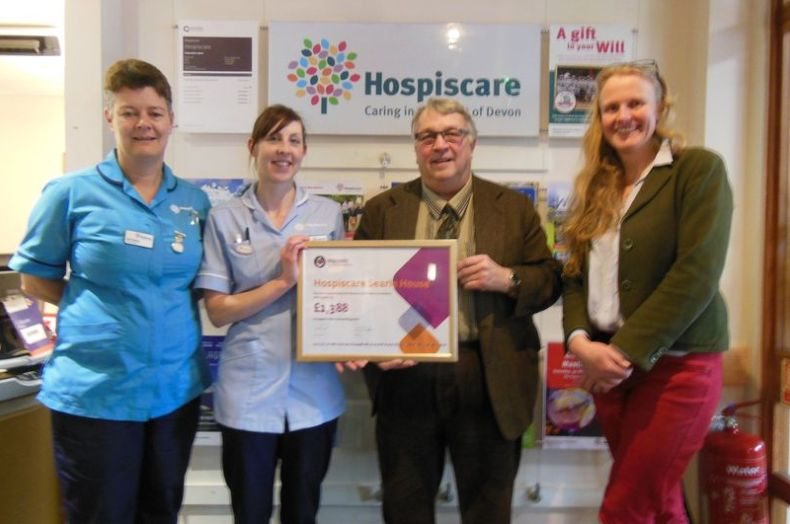 England - Freemasons donate £1388 to Hospiscare's Searle House in Exeter