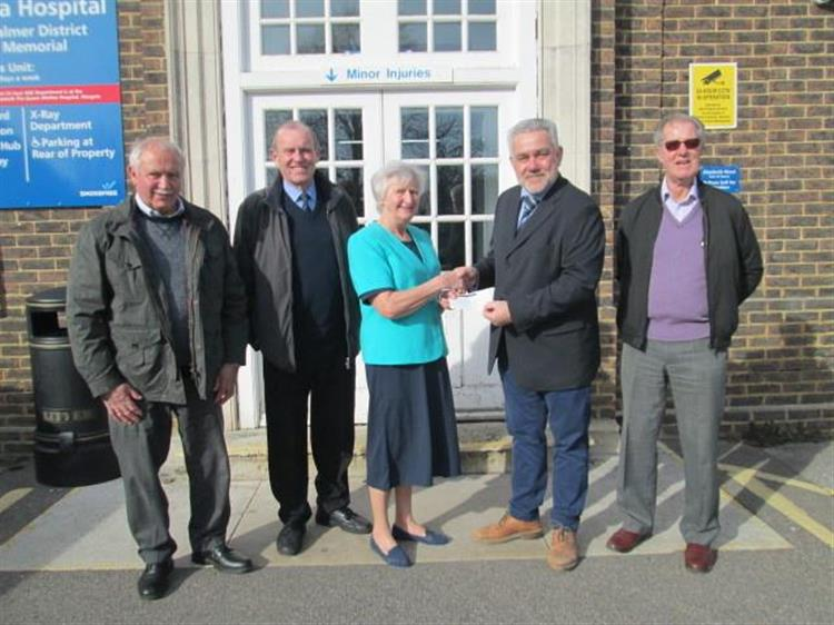 England - Freemasons donate cash to Friends of Deal Hospital at London Road, Deal
