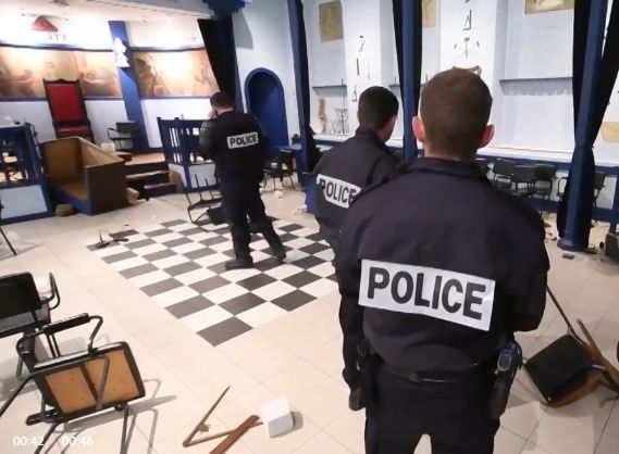 Protesters ransack Masonic Lodge in French village