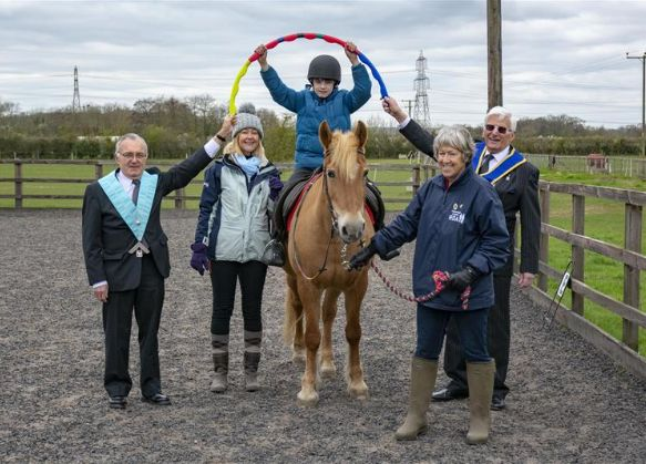 England - Riding for the Disabled and Alternatives benefit from Burghley Lodge Freemasons' donations
