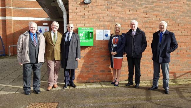 England - Freemasons defibrillator gift to Budmouth College, Weymouth