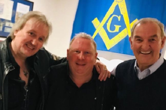 England - donation at Freemasons' charity night