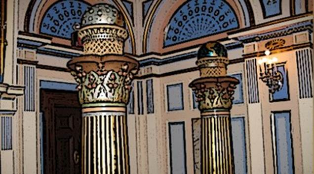 Two Masonic Pillars: Guardians of the Temple