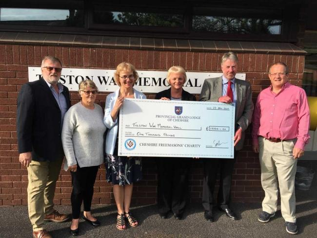 England - Cheshire Freemasons' charity work in Malpas and Tilston