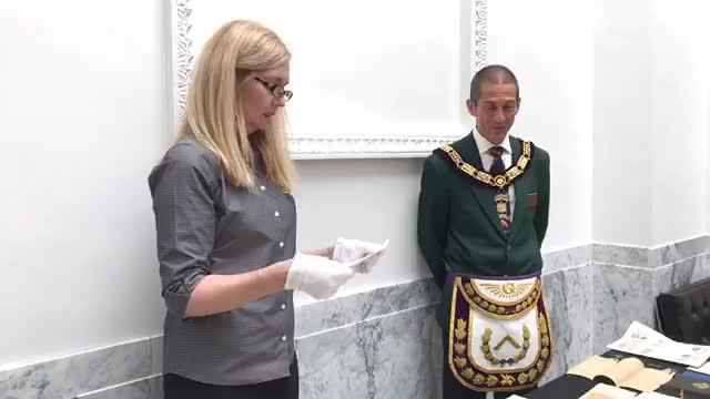 US - Freemason time capsule opened
