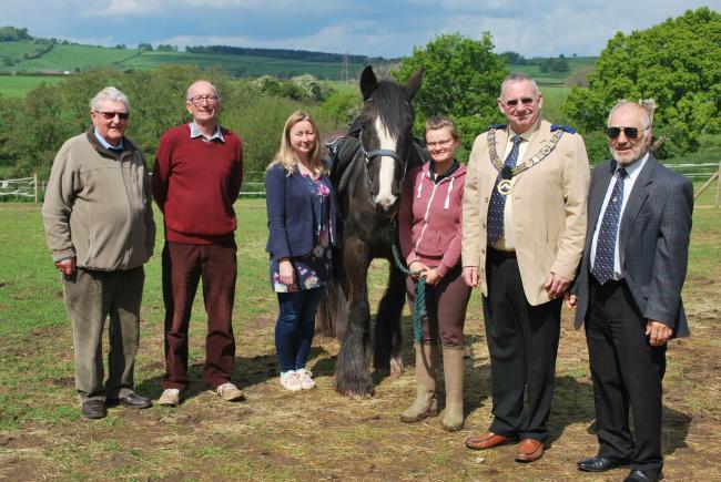 England - Herefordshire Freemasons sponsor a horse