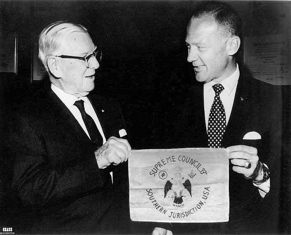 A Freemason Buzz Aldrin on the Moon