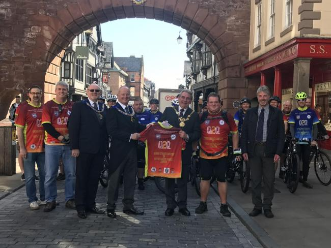 England - A team of Freemasons completed a cycle ride from Chester to London