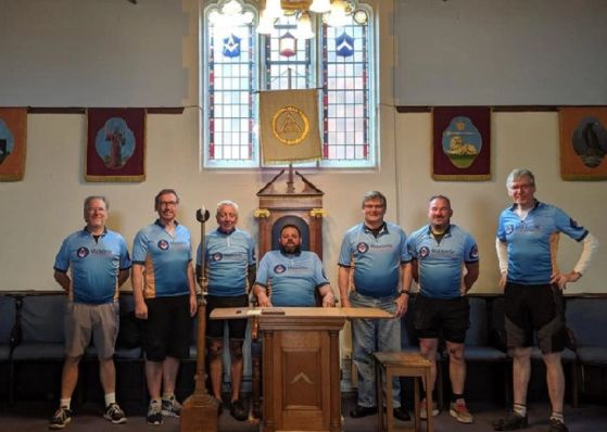 England - A marathon effort from freemasons cycling team