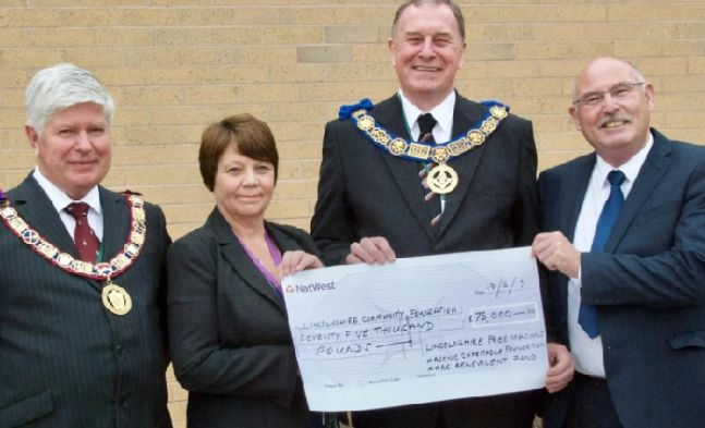 England - Freemasons donate £75k to help rebuild community