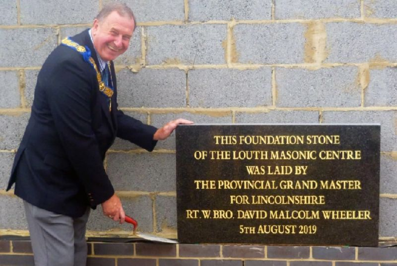 England - Louth Freemasons make their mark on new building for generations to come