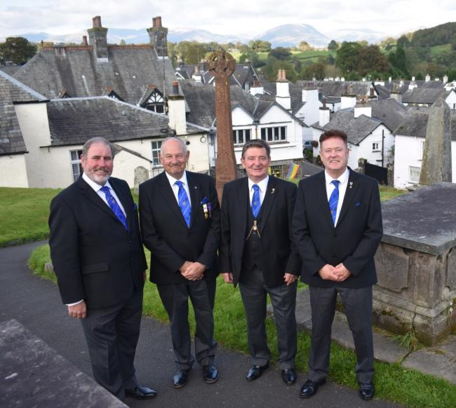 England - Masons turn out to see David Cole appointed as new head of Hawkshead lodge