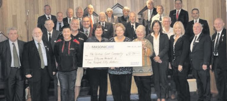 Australia - Masons donate a total of $51,250 to five community organisations
