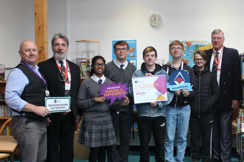 England - Freemasons donate thousands to Exeter Royal Academy for Deaf Education