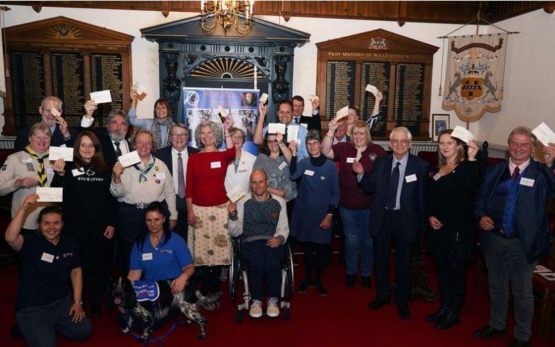 England - Freemasons help groups and charities across Devon with £25k donation