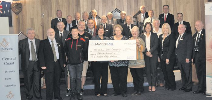 Australia - Central Coast Freemasons donate over $50,000