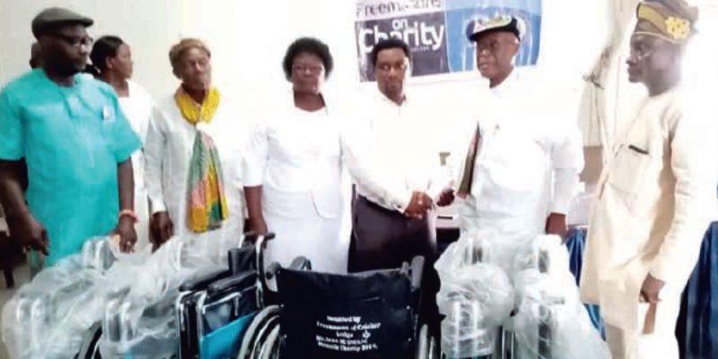 Nigeria - Freemasons Lodge donates wheelchairs to major hospitals in C'River
