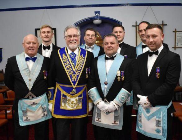 England - Grange Freemasons install a new master
