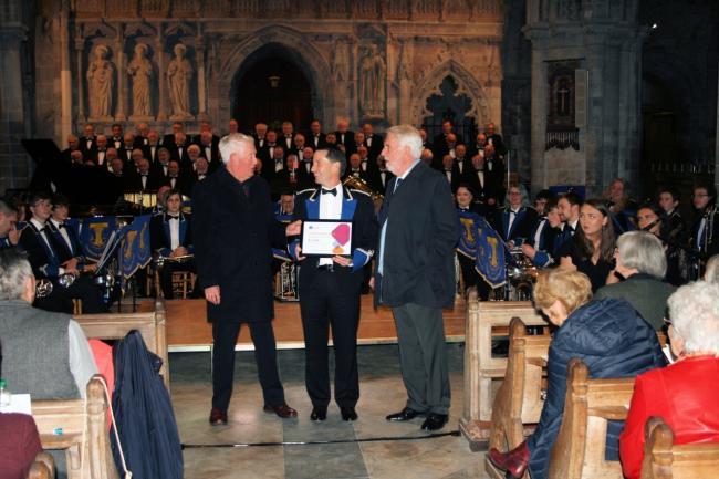 Wales - Strumble Lodge Freemason's £2,500 to Goodwick Brass Band