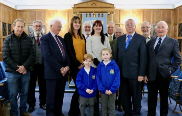 England - Freemasons give welcome boost to Silverdale village school's leaky roof appeal