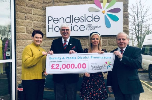 England - Double boost to Pendleside Hospice from local Freemasons