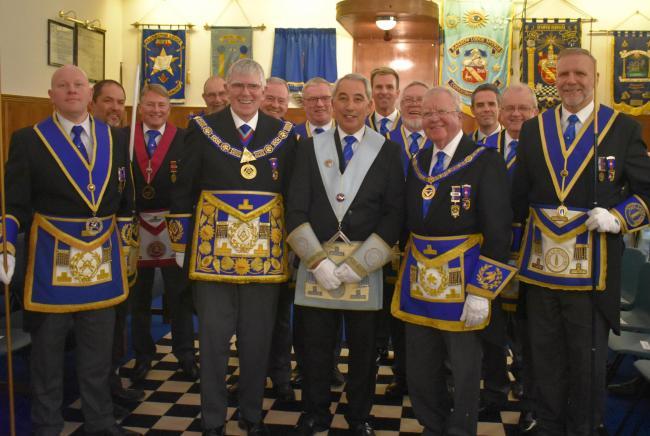 England - Celebrating last meeting in charge of Dalton Freemasons