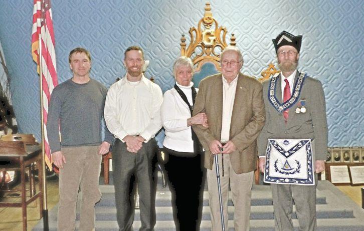 US - Freemasons recognize Wayne Blake for 50 years of membership