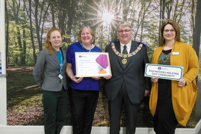 England - Boost for Devon's hospice charities thanks to Freemasons' donation