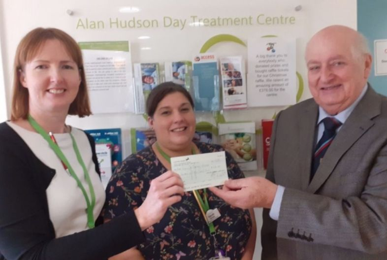 England - Fenland Freemasons support Alan Hudson Day Treatment Centre in Wisbech