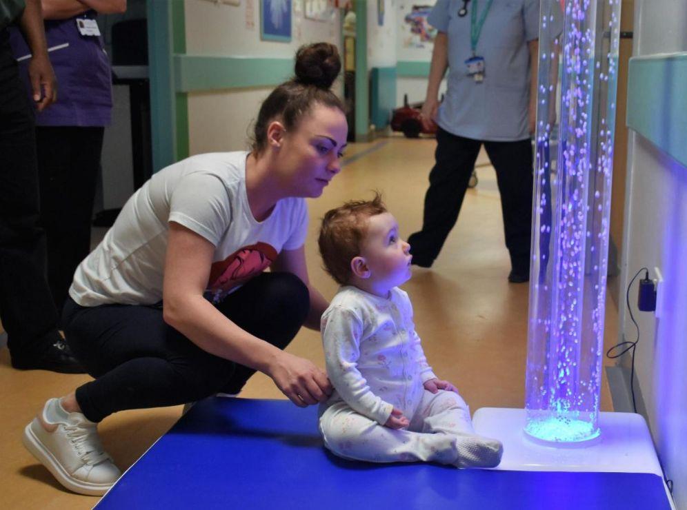 England - Freemasons fund waterless sensory light at Furness General Hospital