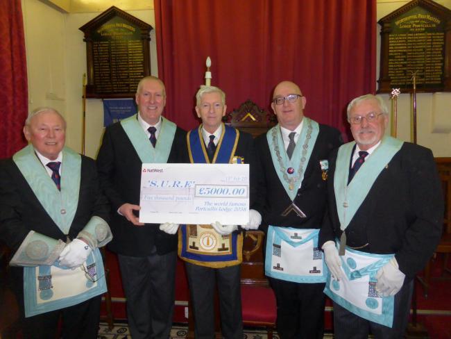 England - Langport Freemasons raise £5,000 for SURE at charity ball