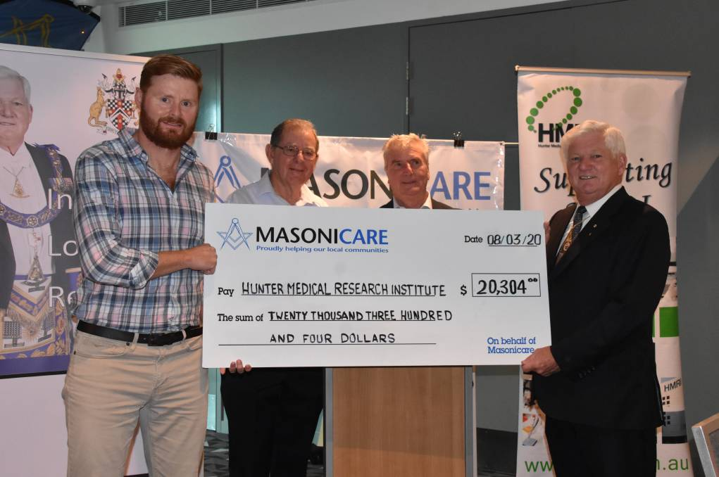 Australia - Freemasons donate to help find a cure for aggressive cancer